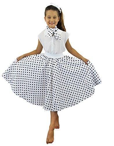 Kostüm Dot Polka Mit Röcke - ILOVEFANCYDRESS I Love Fancy Dress ilfd7080Kinder Kostüme mit Lang Polka Dot Rock (One Size)