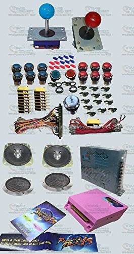 free-shipping-by-dhl-arcade-parts-bundles-kit-with-680-in-1-pandoras-box-4s-long-shaft-joystick-silv