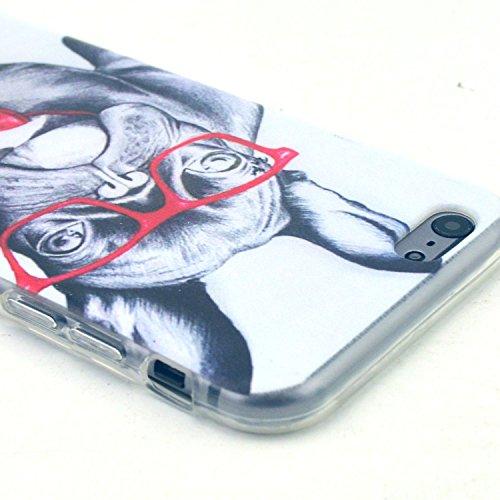 Etche TPU Housse pour iPhone 5C,Étui Coque Housse Pour iPhone 5C,coloré imprimé couvercle du boîtier de caoutchouc de silicone pour iPhone 5C + 1x Bleu style + 1x Bling poussière plug (couleurs aléato Pattern #44