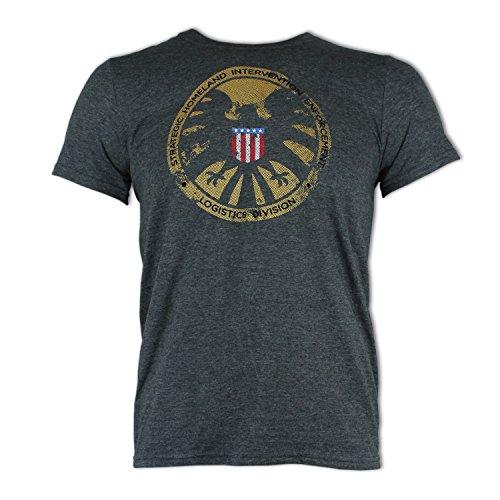official-marvel-avengers-shield-logo-dark-grey-adult-t-shirt-medium
