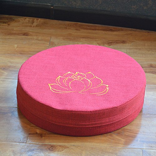 WDZA Le Coussin De Chaise Simple Office Étudiants Classe Pique-Nique Jardin Assise, 60X6Cm, Un Rouge