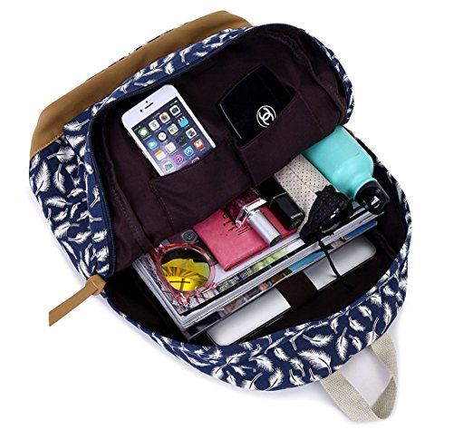 Tibes imprimé sac à dos sacs à dos personnalisés étudiant Bleu profond