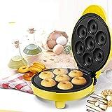 XCXDX Mini Machine À Biscuits 7 Beignes, Plaques Antiadhésives Une Cuisson Amusante