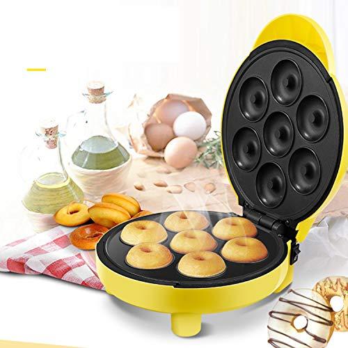 XCXDX Donut Maker Mini-Cookie-Maschine Mit 7 Donuts Antihaft-Platten Zum Spaß Kochen