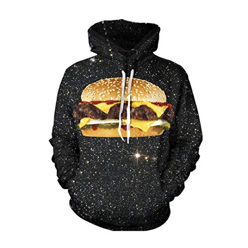 Delicious Intergalactic Burger 3D All Over Printed Hoodies Hipster Street Wear Lässige Hip Hop Top V1 XL