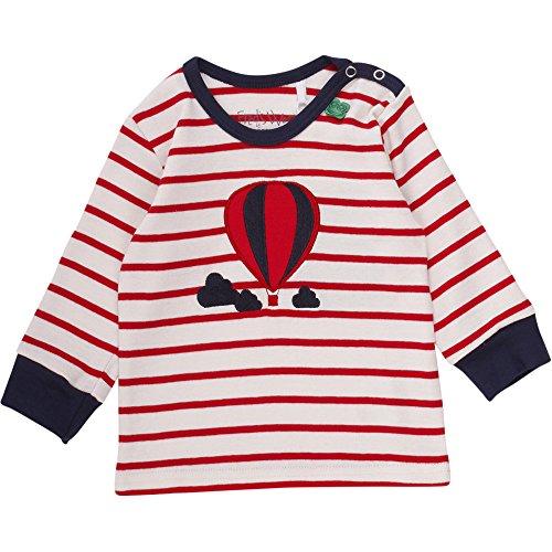 Fred's World by Green Cotton Unisex Baby T-Shirt Balloon Stripe T Baby, Elfenbein (Cream/Red 019800001), 86