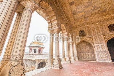 """Leinwand-Bild 60 x 40 cm: """"Marble Palaces in Agra Fort, India"""", Bild auf Leinwand"""