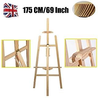 175,3cm 1,75m Holz Studio A-Frame Staffelei Leinwand Höhe Faltbare tragbare Staffelei für Hochzeiten Artwork Skizzieren Zeichnen Malen Display