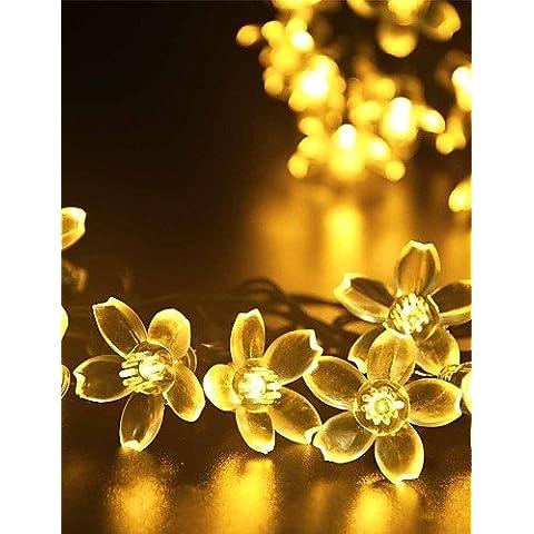 XMQC*7M 50LED luces de cadena de flores de fantasía Solar Waterproof las luces de Navidad , verde-