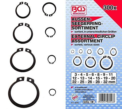 Bgs BGS-8046 - 8046 anillo seeger extranjera / retención surtido de anillo,...