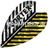 MS-DARTSHOP Dartflights Vortex, 3 Satz = 9 Stück, Incl. 1 Satz MS-DARTSHOP Flights (Gold/Silber)