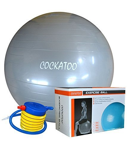 Cockatoo Anti-Burst Gym Ball with Foot Pump, Exercise Ball (65 cm)