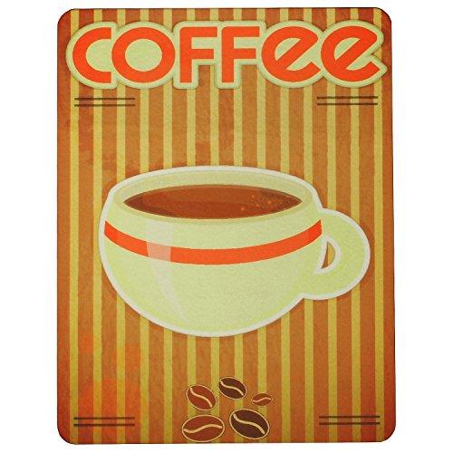 Nostalgische Unterlage 'Coffee' für Kaffemaschinen, Kaffeevollautomaten, Wasserkocher und mehr /...