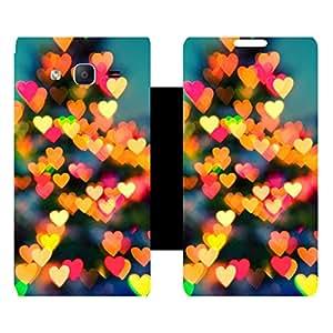 Skintice Designer Flip Cover with Vinyl wrap-around for Samsung Galaxy On5 , Design - lighting heart