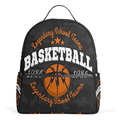 (COOSUN Basketball-Emblem Leichte Canvas-Kind-Schule-Rucksack-Buch-Tasche für Junge Mädchen Klein Mehrfarbig)