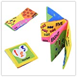 Yosoo Soft Tuch Baby Buch Spielbuch Puzzlebuch Geeignet für 3 Monate bis 3 Jahre alte Kinder