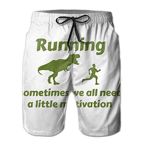 Die laufende Motivations-Raubvogel-Verfolgung der Männer bunt Herren Beach Shorts Board Badehose Quick Dry Badeanzug mit Mesh-Futter,Größe XXL -