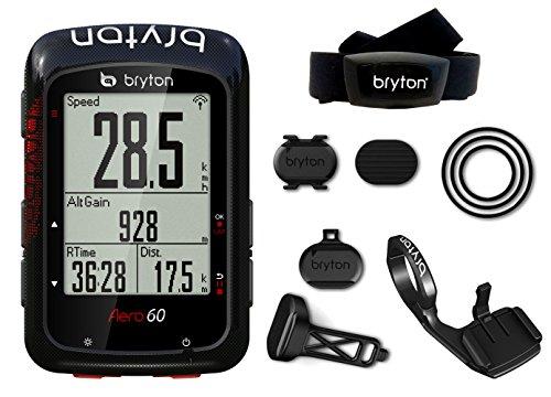 Bryton Aero 60t GPS Ciclismo, Unisex Adulto, Negro, M