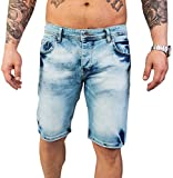Rock Creek Herren Shorts Jeansshorts Denim Stretch Sommer Shorts Regular Slim [RC-2126 - Light Blue W38]