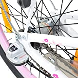 Galano 20 Zoll Kinderfahrrad Blossom Mädchenrad Jugendrad Cityrad, Farbe:Weiss/pink Test