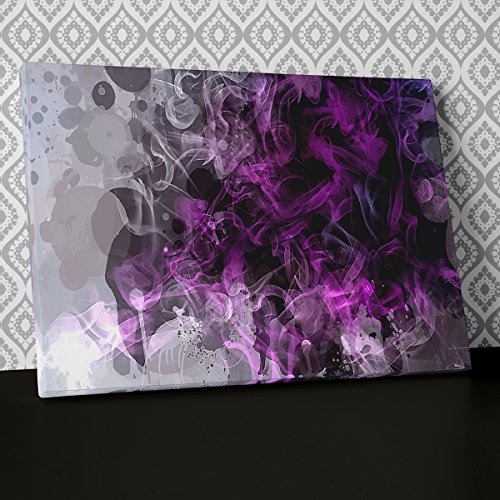 Modern Purple Contemporary Canvas Wall Art Abstract Picture Print AB806