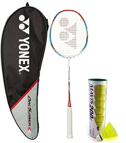 Yonex Arcsaber FD & Mavis 200I Combo (Arcsaber FD Badminton Racquet + Mavis 200I Pack of 6 Shuttlecock)  available at amazon for Rs.5230