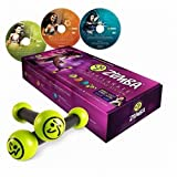 Zumba Fitness Exhilarate Body Shaping System DVD Set + Toning Sticks
