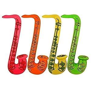 Gifts 4 All Occasions Limited SHATCHI-1202 Shatchi 3 piezas Saxofón inflable para disfraz, accesorio para despedida de soltera, boda, juguetes para niños, Multi