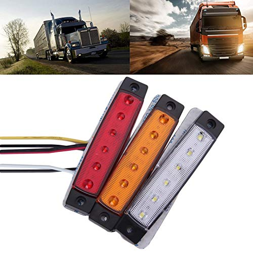 ouying1418 6 LED Car Truck Trailer Side Marker Indicators Light Lamp 12V Waterproof