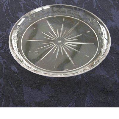 Assiettes et bols jetables en plastique Design cristal classique Transparent, Plastique, claire, 10 inch Large Dinner Plates