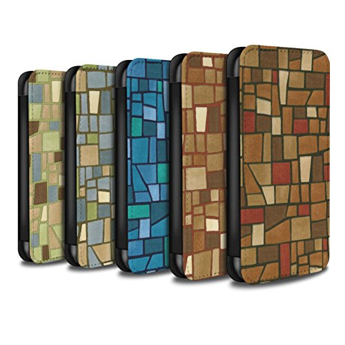 STUFF4 PU Pelle Custodia/Cover/Caso/Portafoglio per Apple iPhone 6+/Plus 5.5 / Multipack (9 pc) / Tessere di mosaico disegno
