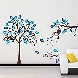 fgghfgrtgtg Singe de Bricolage Accrobranches Stickers muraux pour la décoration Enfants Chambre...