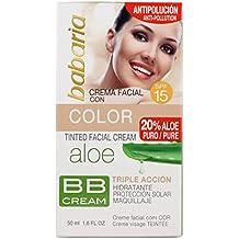 Babaria - BB Cream - Crema facial con color SPF15 - 50 ml