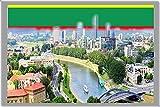 VILNIUS KÜHLSCHRANKMAGNET, THE CAPITAL CITY OF LITHUANIA REFRIGERATOR MAGNET