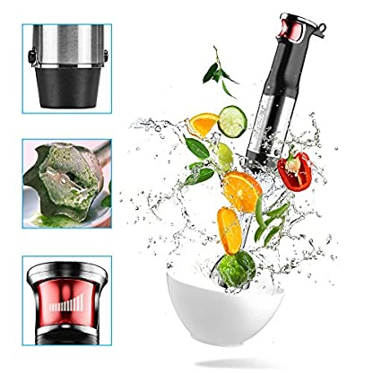 Proscenic-4-in-1-Stabmixer-Set-800W-starker-Motor-Smart-Speed-inkl-500ml-Behlter-600ml-Messbecher-Edelstahl-Schneebesen-und-Prierstab-Multifunktion-fr-Smoothies-und-Babynahrung