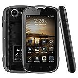 E & L W5 IP68 imperméable à l'eau anti-poussière Shockpproof 4.0 pouces téléphone mobile Android 6.0 MT6735 Quad Core 1 Go RAM 8 Go ROM 5.0MP 4G FDD LTE 2800mAh Batterie 4.0 '' Smartphone (Noir)