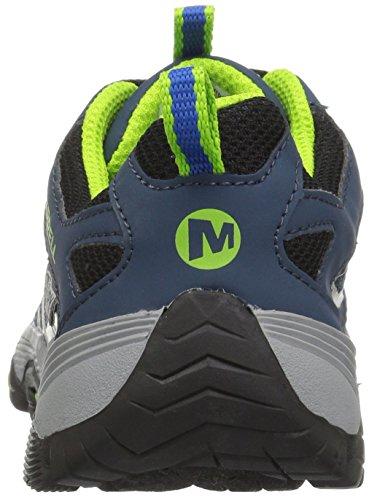 Merrell ml-b Moab Fst Low Waterpoof, Chaussures de Randonnée Basses Garçon Bleu (Navy/blue)