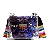 PVC Schultertasche Sommer Transparente Jelly Bag Breitband Pailletten Schultertasche Messenger Bag BW01-SB-Tmgdkd 1