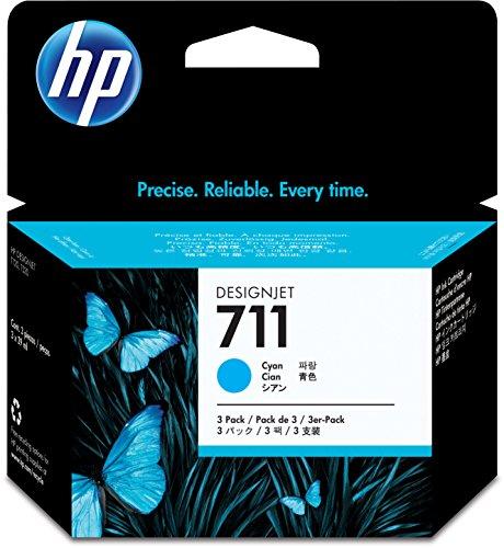 Preisvergleich Produktbild HP 711 Multipack Original Druckerpatronen (3x Cyan) für HP DesignJet
