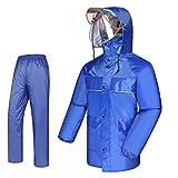 RNCT- Regenmäntel, Herren und Damen Regenmäntel Mode Regenmantel, Regenschutz, Regen und atmungsaktiv (Farbe : B, größe : M)