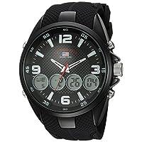 U.S. Polo Assn. Men's Quartz Metal and Rubber Casual Watch, Color:Black (Model: US9596)