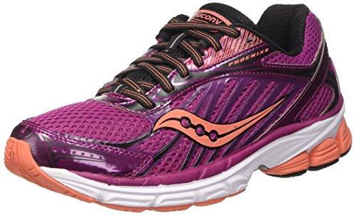 Saucony Phoenix 8 W' , Scarpe da Corsa Donna, Multicolore (Purple/Coral Pa), 40 EU