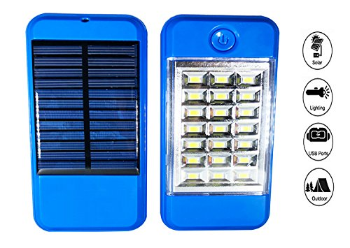 US1984 21 LED Wireless Solar Light with Power Financial institution, Wall Light and Lighting for Wall, Patio, Backyard, Panorama, Deck, Shed, Garden, Emergency Light, Two Brightness Mode Image 2