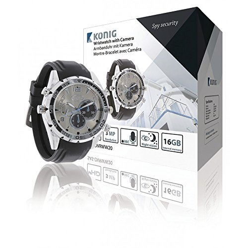 Spy Aufnahme Armbanduhr (Armbanduhr mit integrierter Kamera 16GB Full HD)