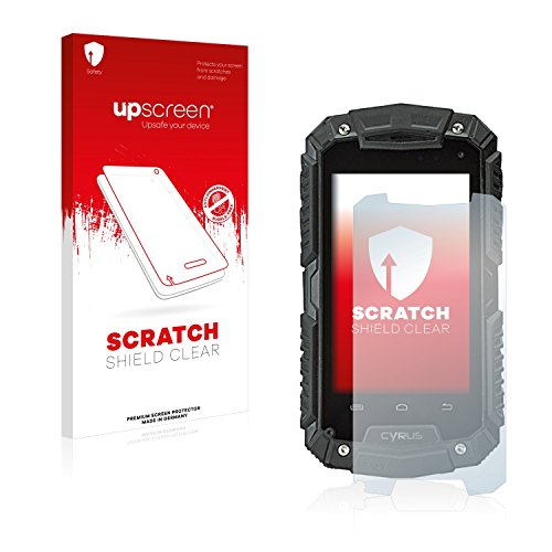 upscreen Scratch Shield Schutzfolie kompatibel mit Cyrus CS 20 - Kristallklar, Kratzschutz, Anti-Fingerprint