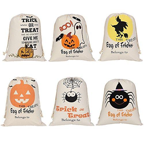 on Halloween langlebigem Segeltuch Kordelzug Staubbeutel Trick Candy Aufbewahrung wiederverwendbar Geschenk Tasche Einheitsgröße sortiert ()