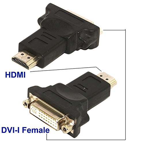 RiaTech HDMI to DVI, Dual Link Dvi-i Female to Hdmi Male Plug Bidirectional Converter Adapter