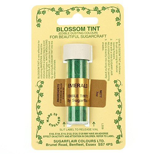Sugarflair Emerald Edible Blossom Tints Food Colour Colouring Dust
