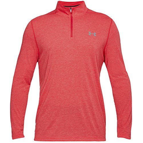 Under Armour HeatGear Threadborne 1/4 Zip Trainingsshirt Herren rot (500)