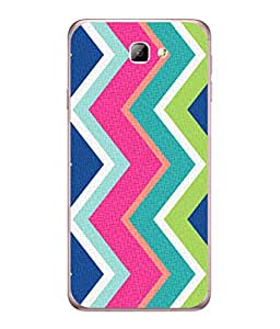PrintVisa Designer Back Case Cover for Galaxy J5 Prime (Blue green white fancy shades)